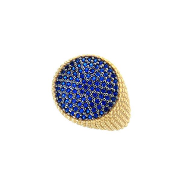 Δαχτυλίδι με μπλε πέτρες