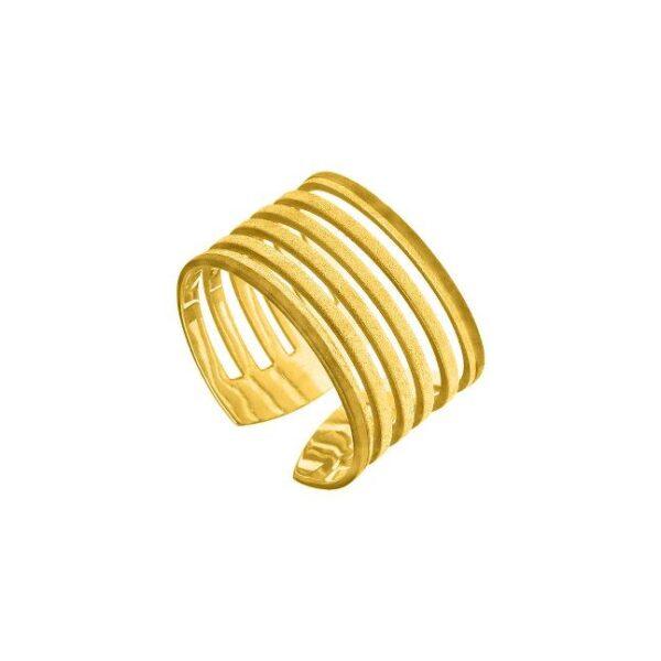 Δαχτυλίδι φαρδύ XL με κενά