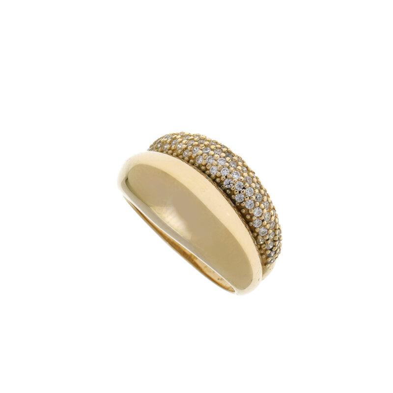 Δαχτυλίδι κίτρινο διπλό ζιργκόν