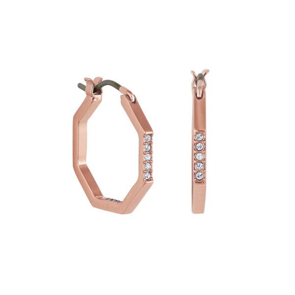 Κρίκοι ροζ DKNY