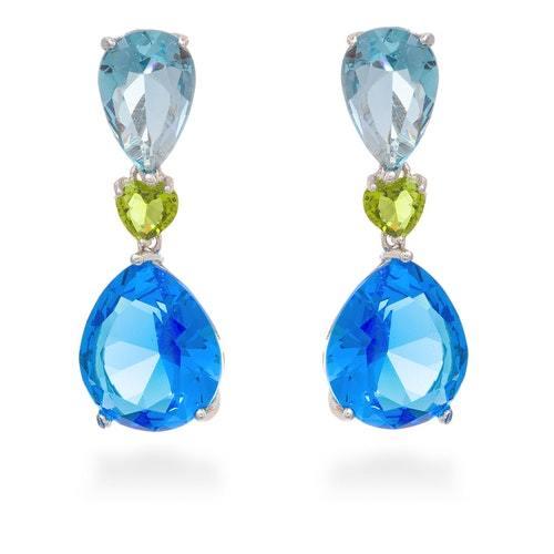 Σκουλαρίκια σε αποχρώσεις του μπλε