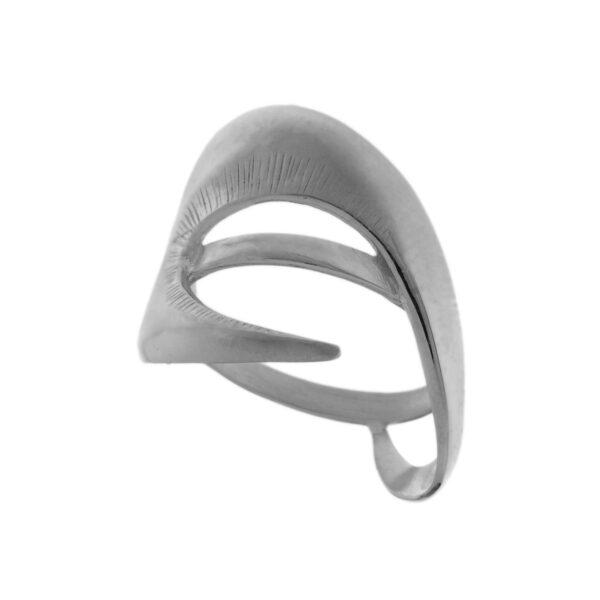 Δαχτυλίδι ασσύμετρο λευκό