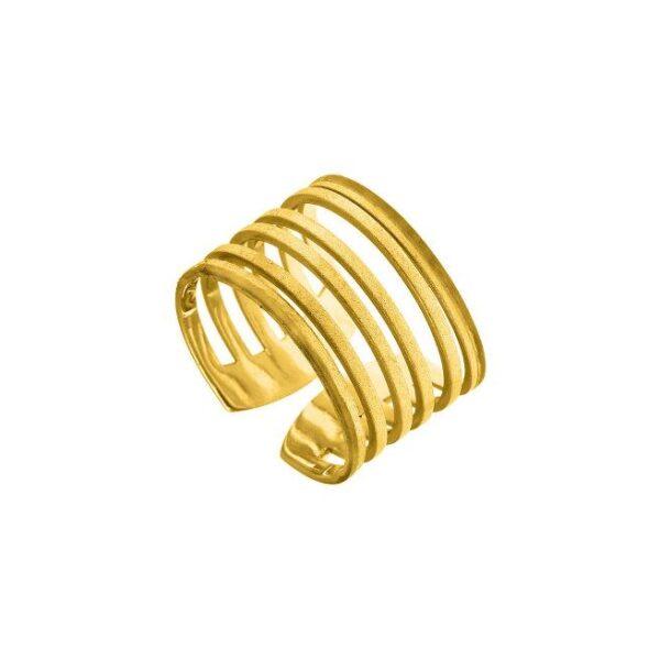 Δαχτυλίδι φαρδύ L με κενά