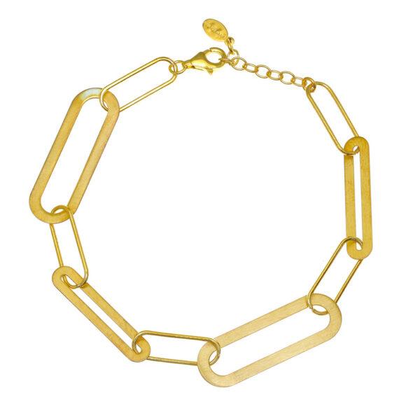 Βραχιόλι κίτρινη χοντρή αλυσίδα
