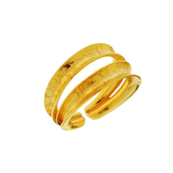 Δαχτυλίδι διπλό που διπλώνει μπροστά κίτρινο