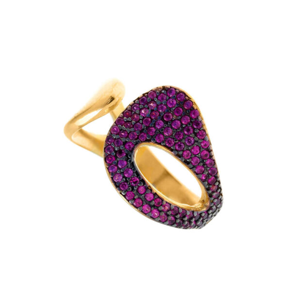 Δαχτυλίδι με φούξια πέτρες