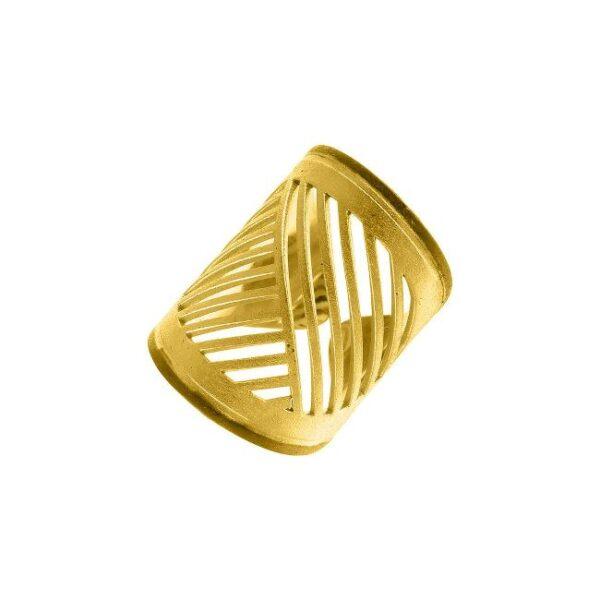 Δαχτυλίδι επίπεδο μεγάλο κίτρινο