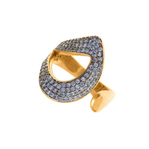 Δαχτυλίδι ανοιχτό με ζιργκόν