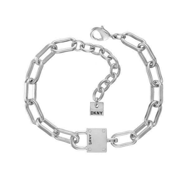 Βραχιόλι αλυσίδα λευκή DKNY