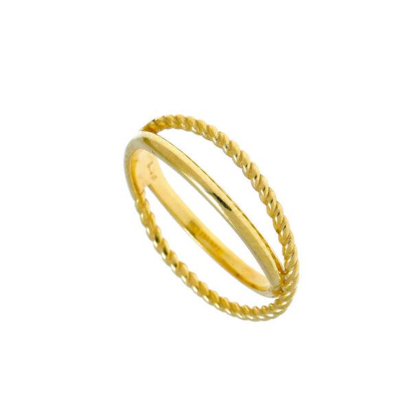 Δαχτυλίδι με δύο βεράκια
