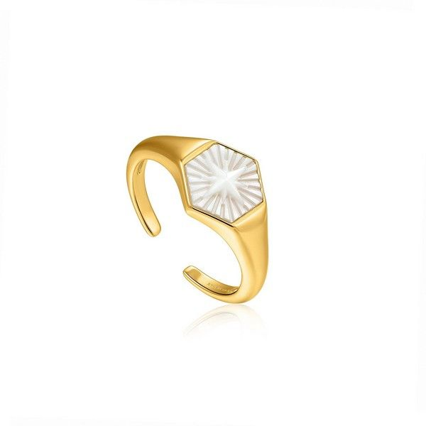 Δαχτυλίδι πολύγωνο φιλντισι
